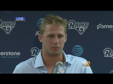 Jared Goff Speaks To Media After Big Win