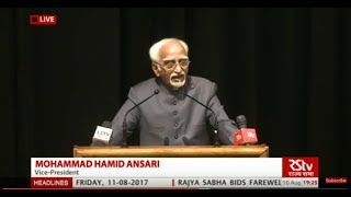 Farewell speech by Rajya Sabha Chairman Hamid Ansari