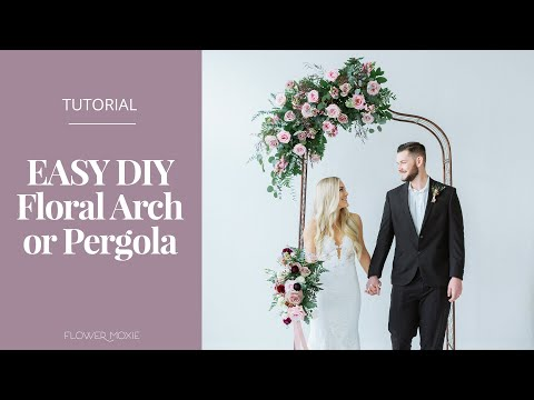 easy diy pergola or arch by flower moxie super fast tutorial youtube. Black Bedroom Furniture Sets. Home Design Ideas