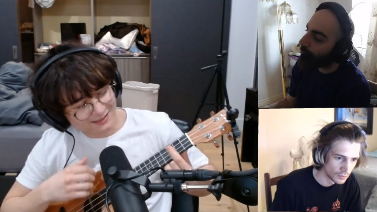 Micheal Reeves plays the ukulele | Fedmyster update  | xQc discovers Aloe Vera