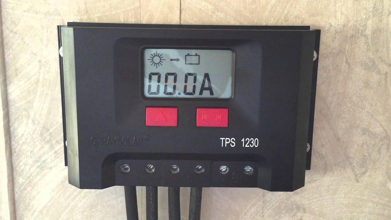 Solar Controller TopRaySolar TPS 1230 - YouTube
