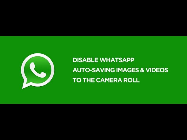 How to Stop WhatsApp from Saving Images/Videos to Camera Roll (iPhone) Travel Video