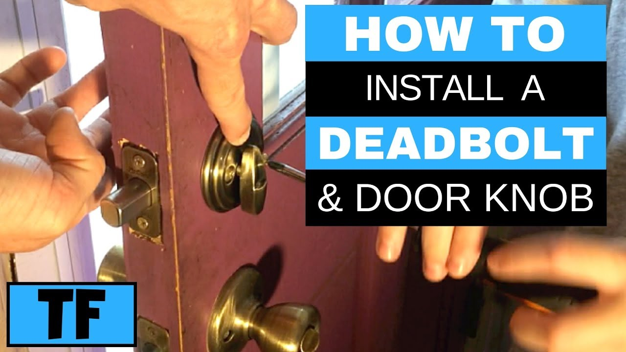 Kwikset Deadbolt And Door Lock Smartkey Installation How To