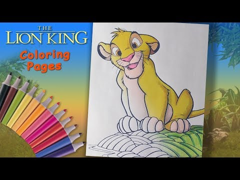 The Lion King #SpeedColoring for kids. How to Coloring young lion Simba
