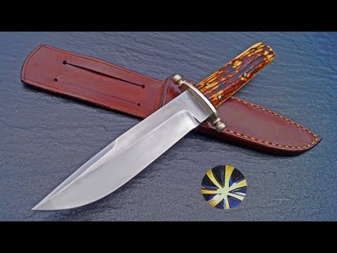 Custom Cowboy Bowie Knife Messer Gerd Haats Germany Western Collection Sammler Outdoor