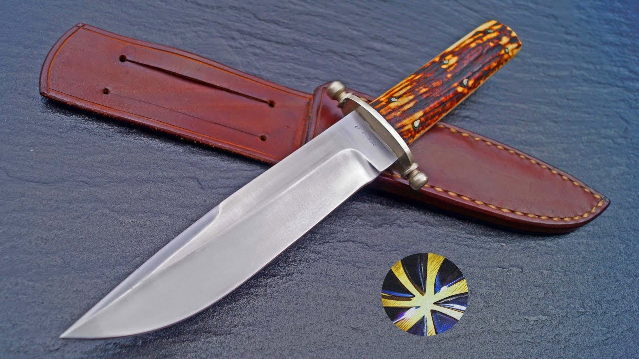 Custom Cowboy Bowie Knife Messer Gerd Haats Germany