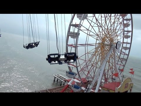Texas Flyer POV Galveston Island Historic Pleasure Pier 230 Foot Star Flyer Ride
