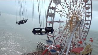 Texas Flyer POV Galveston Island Historic Pleasure Pier 230 Foot Star Flyer Ride