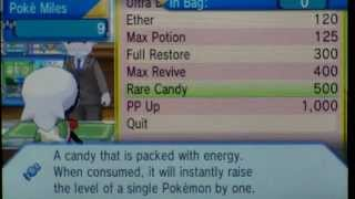 Where to Buy Rare Candies in Pokemon Omega Ruby and Alpha Sapphire