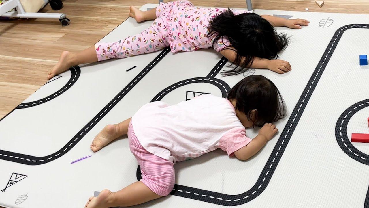 【ある日の就寝前】4歳・1歳姉妹の就寝前ってどこの家庭もこんな感じですか?