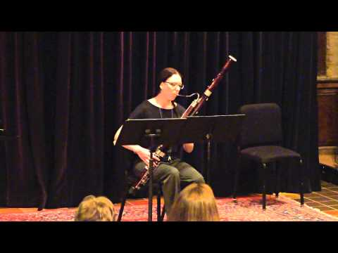 Osbourne's Rhapsody for Solo Bassoon. Performed at The Kerr Cultural Center on April 7, 2014