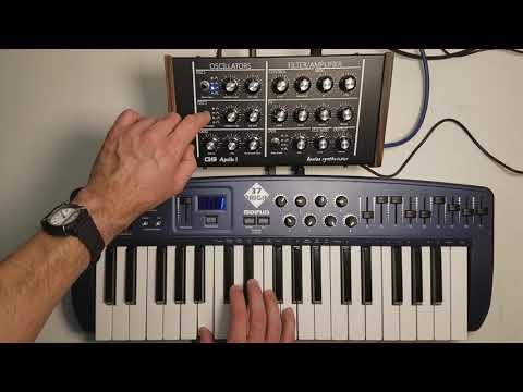 Demo de algunos sonidos del sintetizador analógico Apollo I