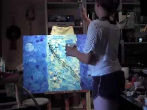 """Abstrakte Malerei """"Wasser"""", gemalt von Celine Zapp (12)"""