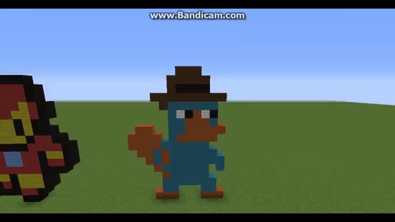 Minecraft Perry The Platypus Pixel Art