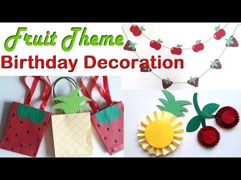 Fruit Theme Birthday Party Ideas,DIY Birthday Party Decoration