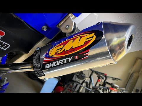 FMF Shorty vs. Stock Silencer - 2018 Yamaha YZ125