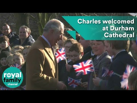 Charles Welcomed At Durham Cathedral