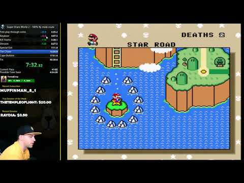 Super Dram World 2 100% World Record Speedrun 38:12 + Marriage Proposal