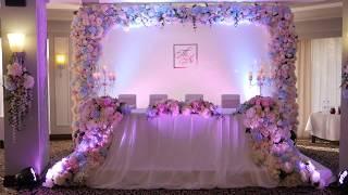 Свадьба в розово - голубых тонах