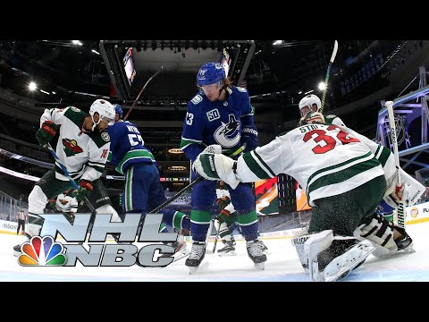 NHL Stanley Cup Qualifying Round: Wild vs. Canucks | Game 1 EXTENDED HIGHLIGHTS | NBC Sports