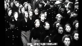 Manifestazione fascista ad Hyde Park alla presenza del capo dei fascisti inglesi Sir Oswald