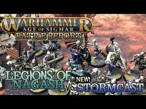 Warhammer: Age of Sigmar 2nd Edition Battle Report - Stormcast vs  Legions  of Nagash