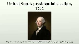 United States presidential election, 1792