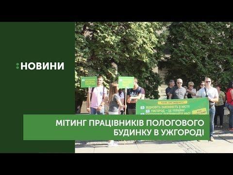 Медики Ужгородського пологового будинку вийшли на мітинг