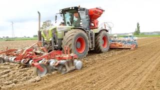 CLAAS Xérion 3800 corn seeding