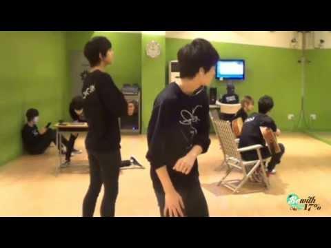 131105 SEVENTEEN Mingming & Dongjin dance 'Breath' by BEAST 비스트 (HQ Song)