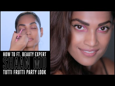 How To Ft. Shaan Mu - Easy Colourful Liner Makeup Tutorial
