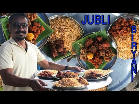 JUBLI BIRYANI | 3  Variety of Hyderabad Chicken Dum Biryani || Selva's travel for food