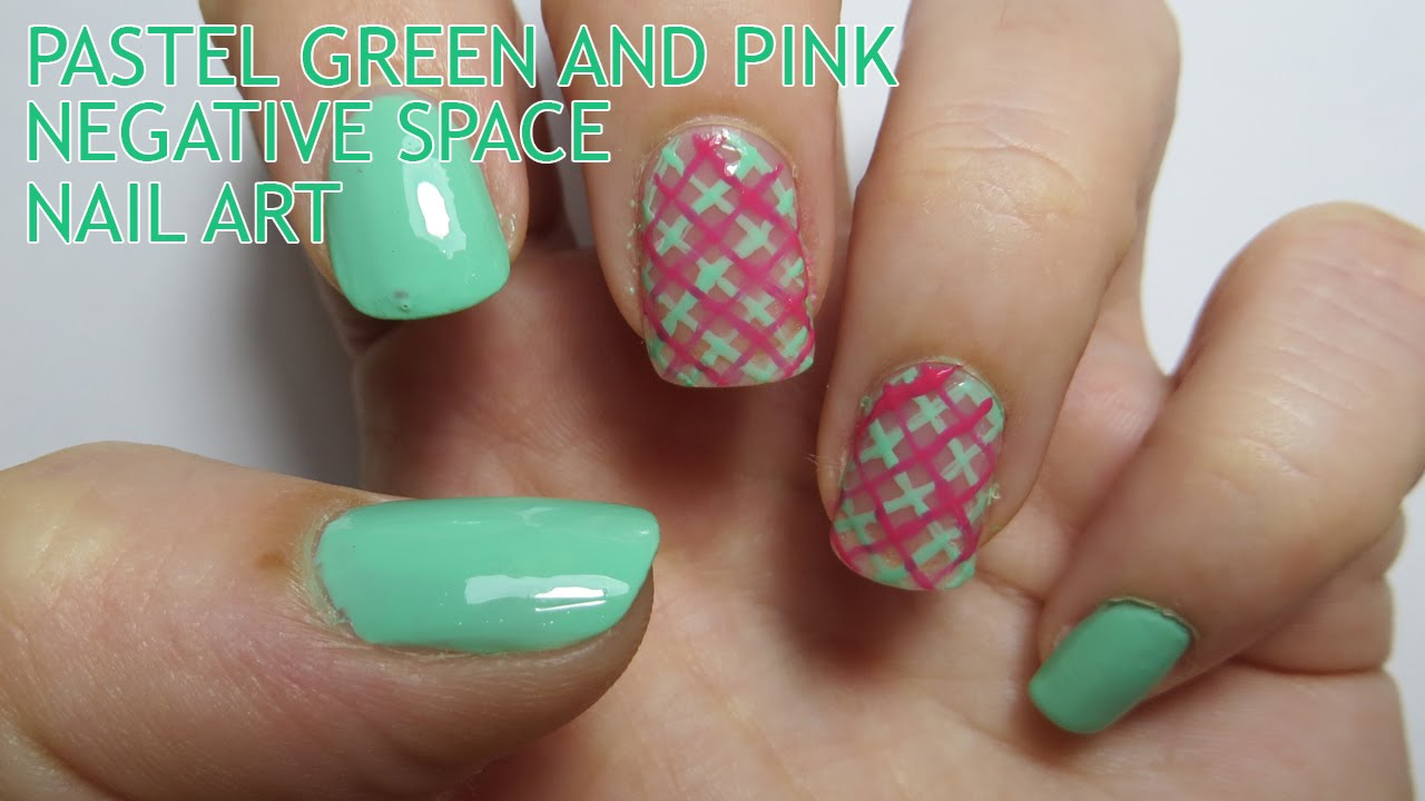 Pastel green and pink negative space nail art youtube pastel green and pink negative space nail art prinsesfo Gallery