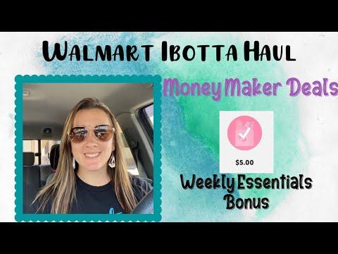Walmart Ibotta Haul I HUGE Money Maker Deals!! I Weekly Essentials Bonus