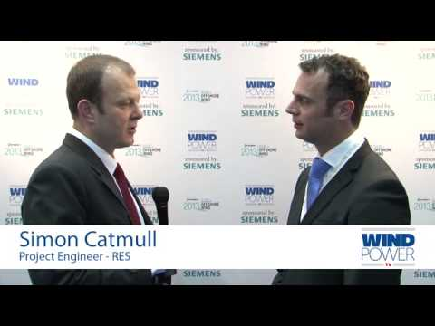 Simon Catmull, from RES, interviewed at Offshore Wind 2013