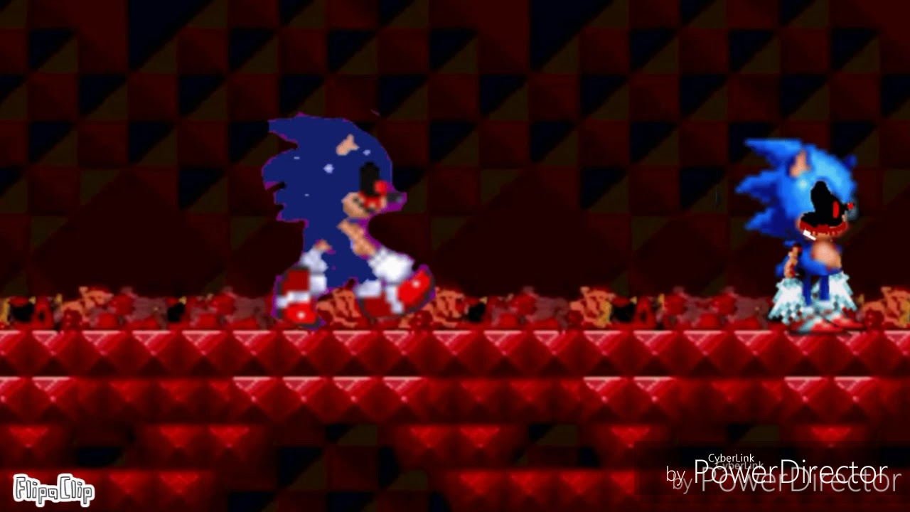 Sonic EXE sprite animation: THE NIGHTMARE WAS JUST THE BEGINNING