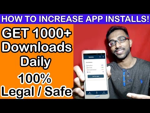 How To Increase App Downloads On Google Play Store [2020] Android App Installs Growth Get More