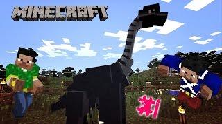 Выживание в майкрафте с ДИНОЗАВРАМИ 1 Minecraft