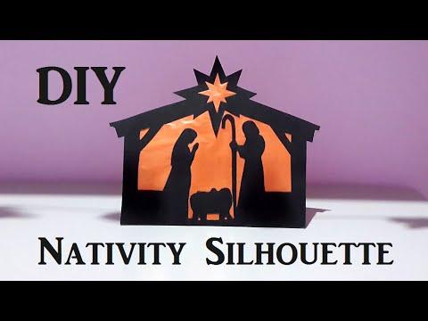 Diy Nativity Silhouette Christmas Room Decor Youtube
