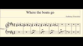 How to play Where the boats go by M83