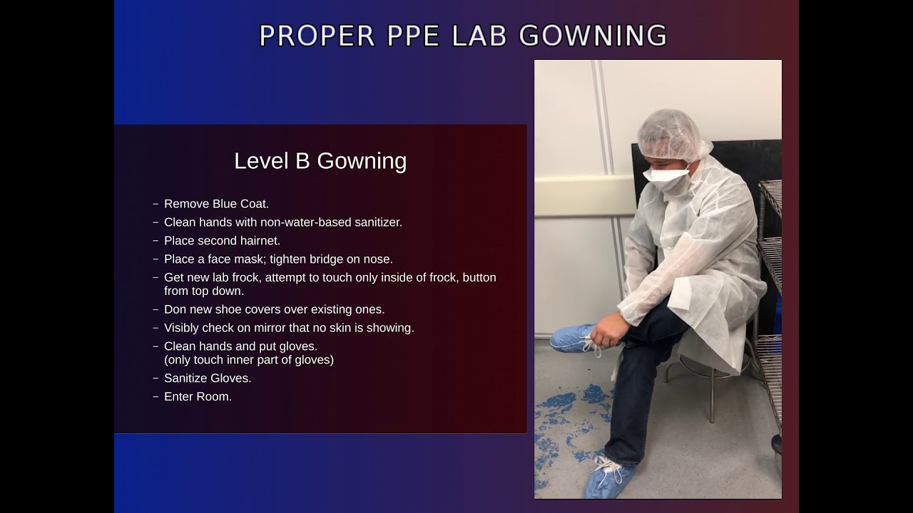 Lab PPE Gowning - YouTube