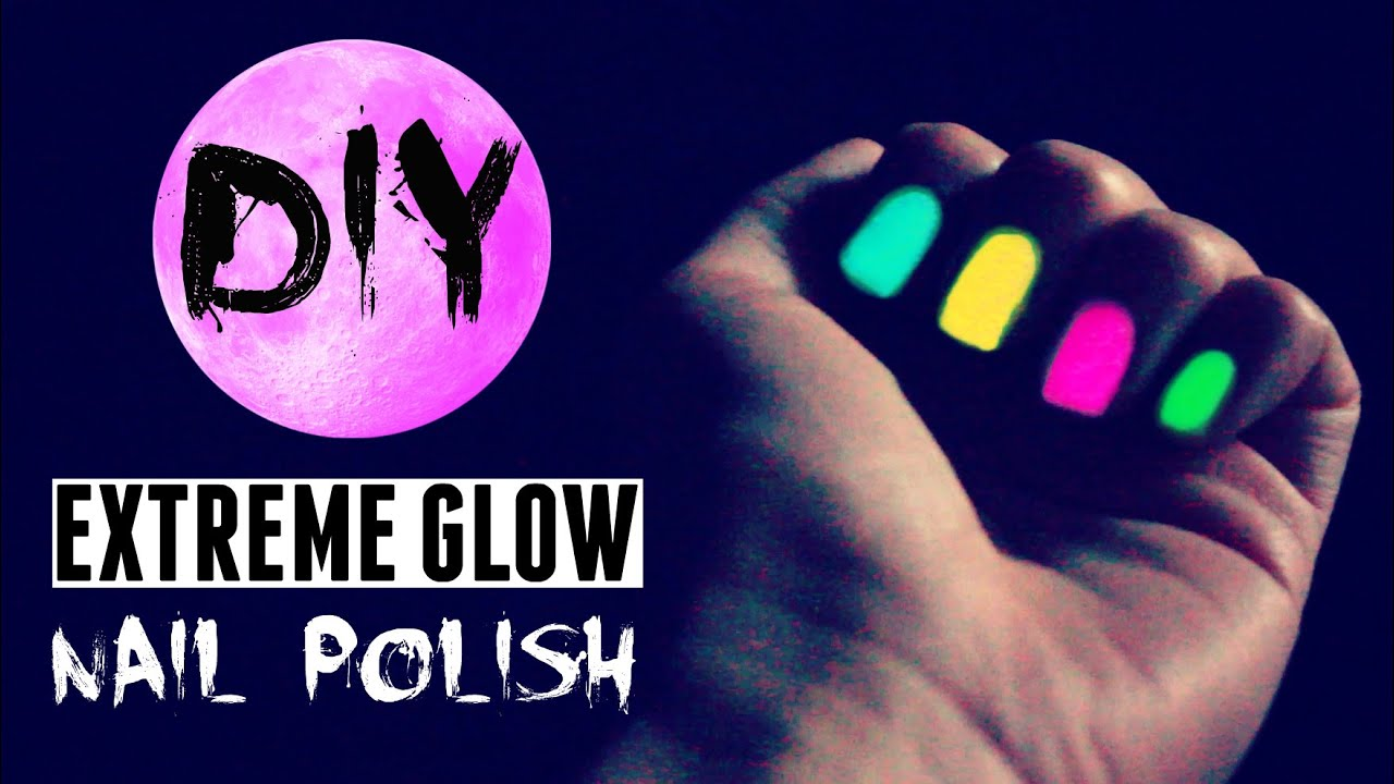DIY Glow in the Dark Nail Polish ✵ BETTER than store-bought?! *:・゚ ...