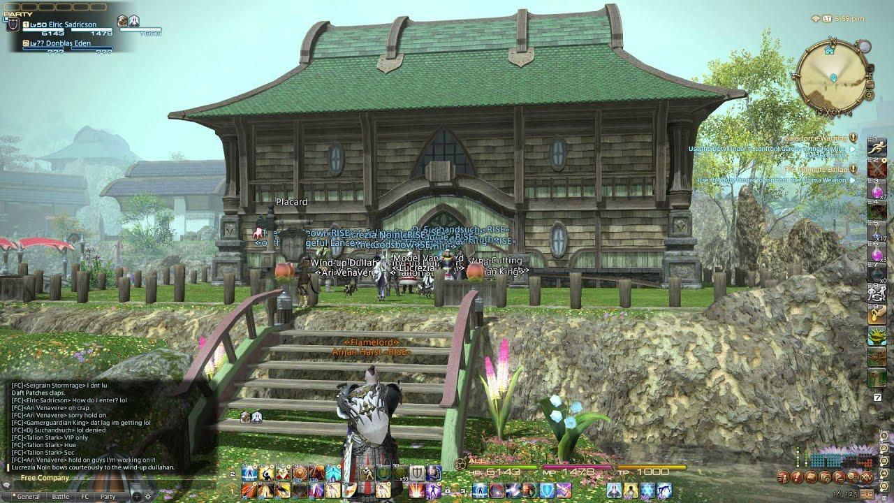 FFXIV - Phoenix Rising of Jenova build their Guild Hall
