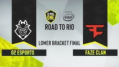 CS:GO - FaZe Clan vs. G2 Esports [Dust2] Map 1 - ESL One: Road to Rio -  Lower Bracket Final - EU