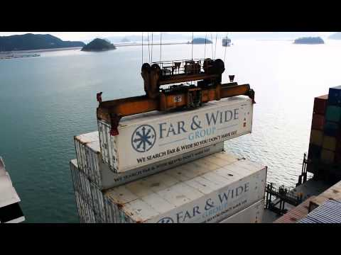 Far & Wide Groups containers at Hong Kong port