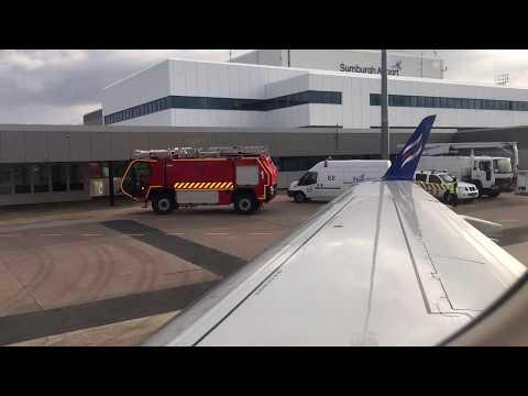 Eastern Airways Inaguraul Landing at Sumburgh