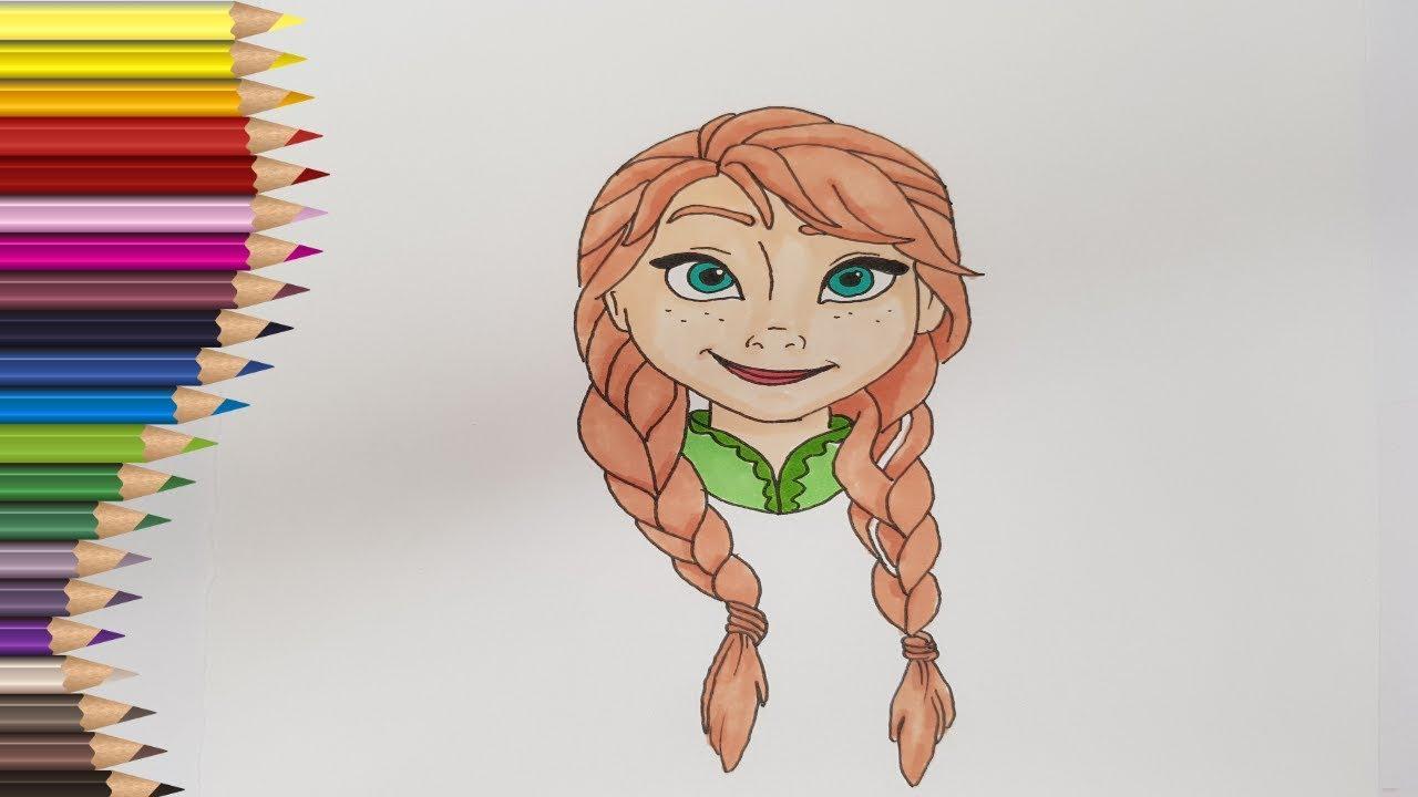 Deseneaza Pe Ana Din Regatul De Gheata Frozen Desenat Si Colorat