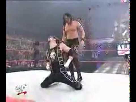 Bradshaw vs The Huricane(C) WWF European Championship match.