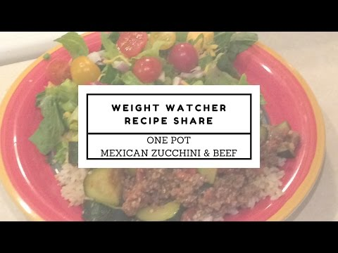 Weight Watchers | One Pot Mexican Zucchini & Beef | 4 SP