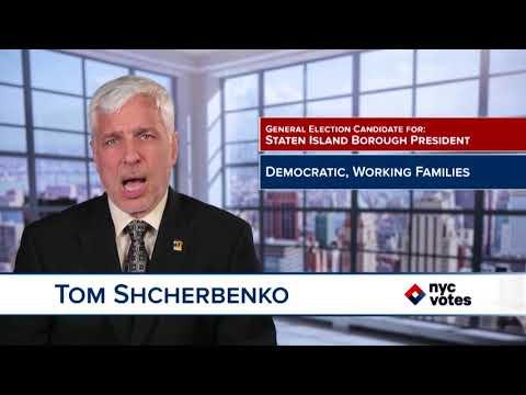 Tom Shcherbenko: Candidate for Staten Island Borough President